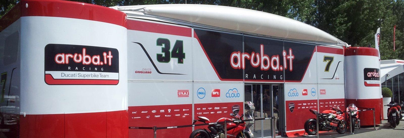 Hospitality Ducati Superbike con tetto Tensairity