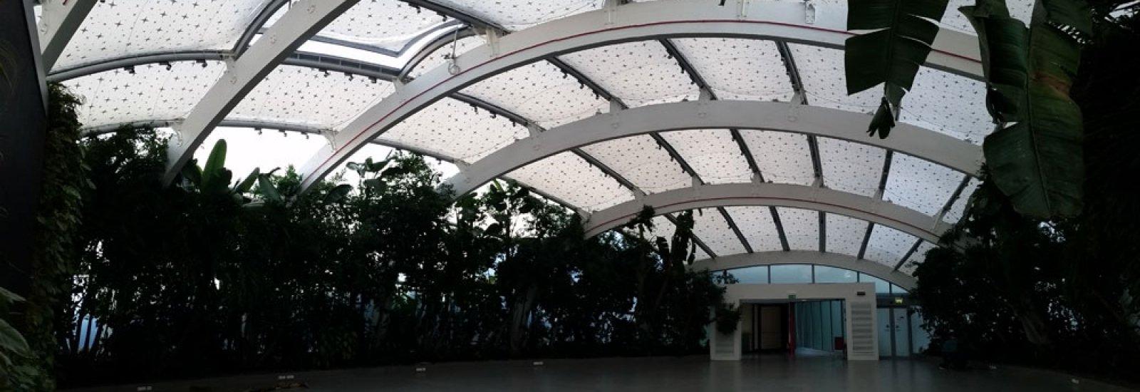 Copertura a cuscini in ETFE.