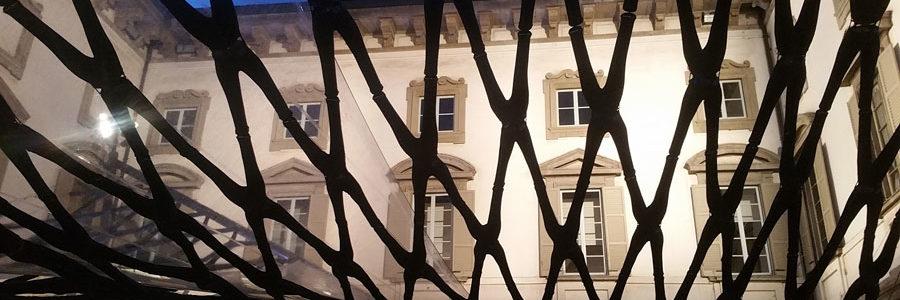 """La Realizzazione del Padiglione """"Off The Cuff"""" di DILLER SCOFIDIO + RENFRO, Palazzo Litta, Salone del Mobile 2017, Milano"""