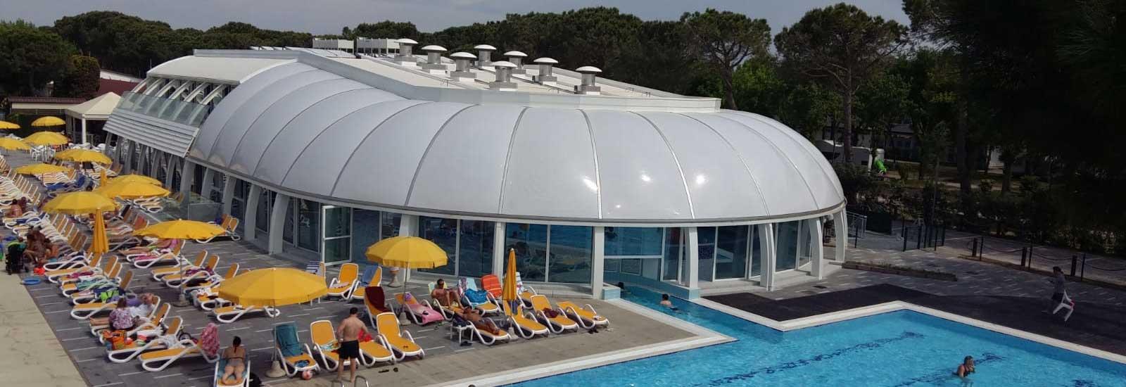 Copertura piscina in ETFE
