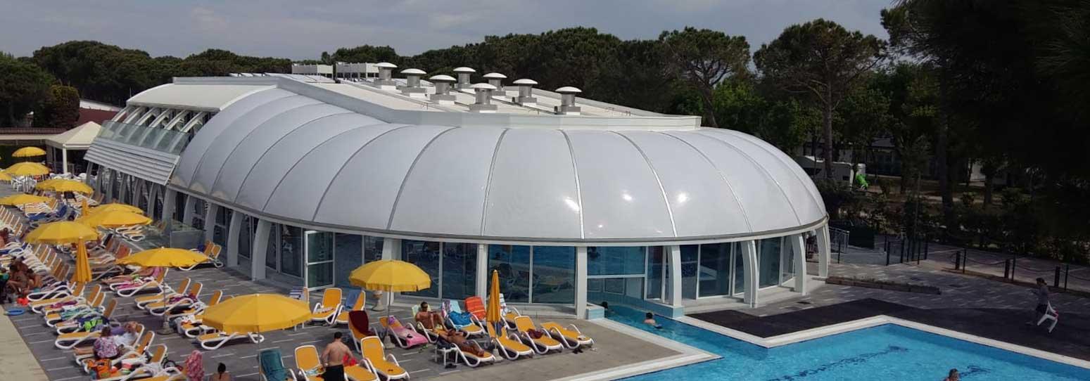 etfe in architettura esempio piscina