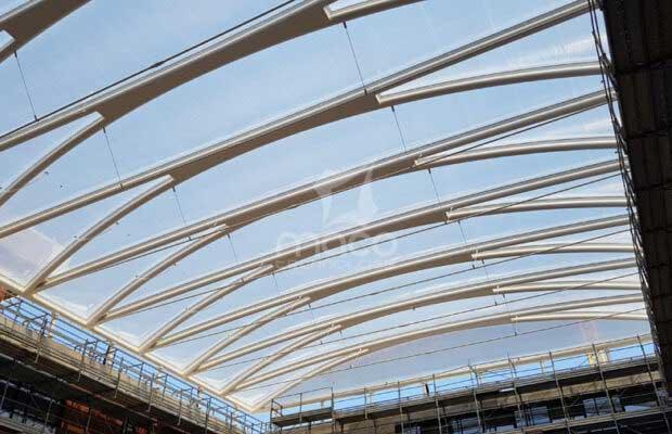 copertura atrio in ETFE