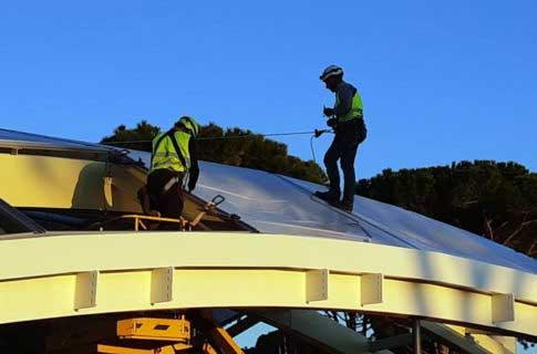 Montaggio cuscini ETFE