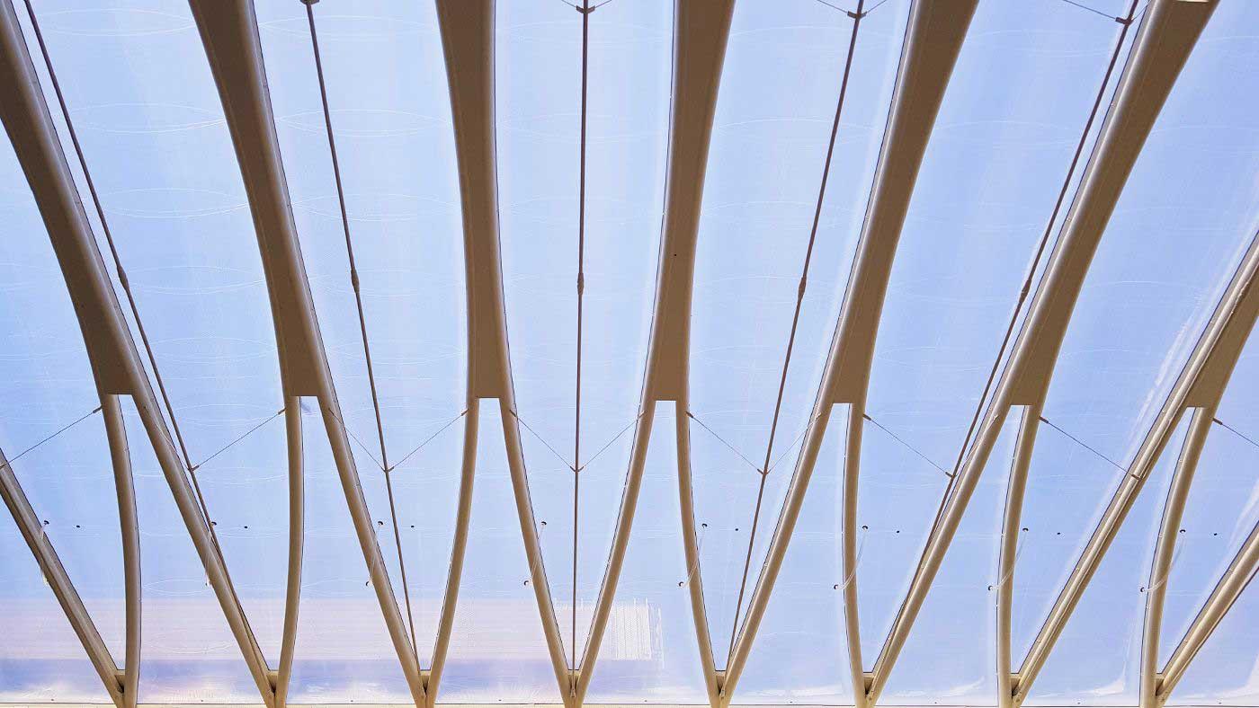 Atrio coperto in cuscini in ETFE